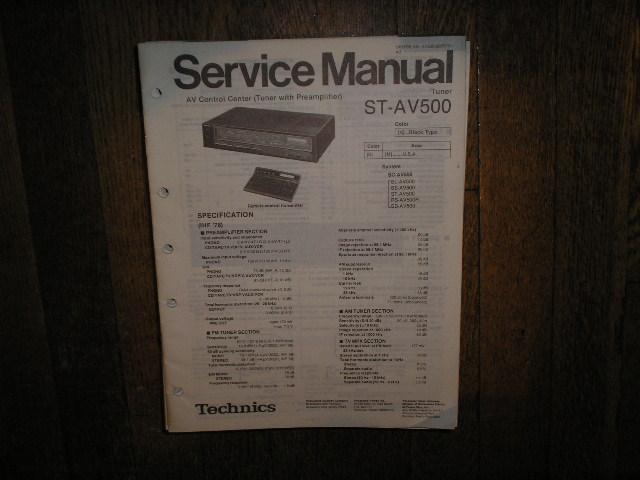 ST-AV500 Tuner Operation Service Manual