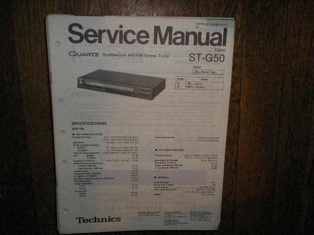 ST-G50 Tuner Service Manual