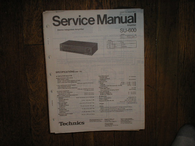 SU-600 Amplifier Service Manual