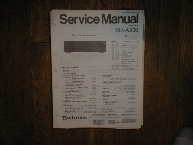 SU-A200 Amplifier Service Manual