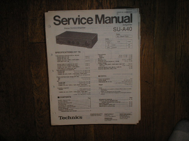 SU-A40 Amplifier Service Manual