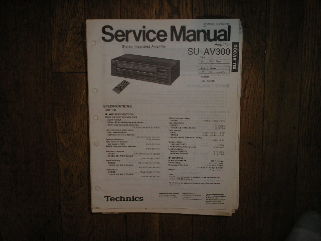 SU-AV300 Amplifier Service Manual