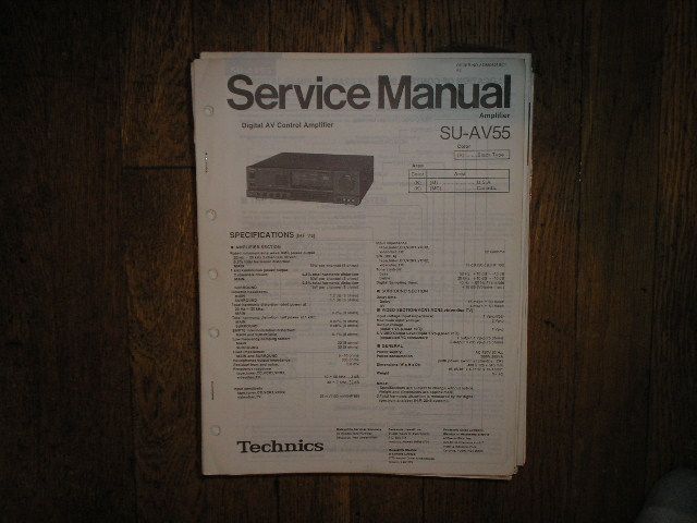 SU-AV55 Amplifier Service Manual