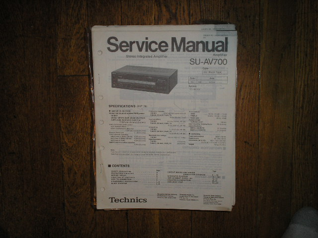 SU-AV700 Amplifier Service Manual