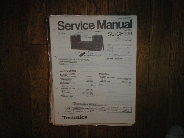 SU-CH700 Amplifier Service Manual