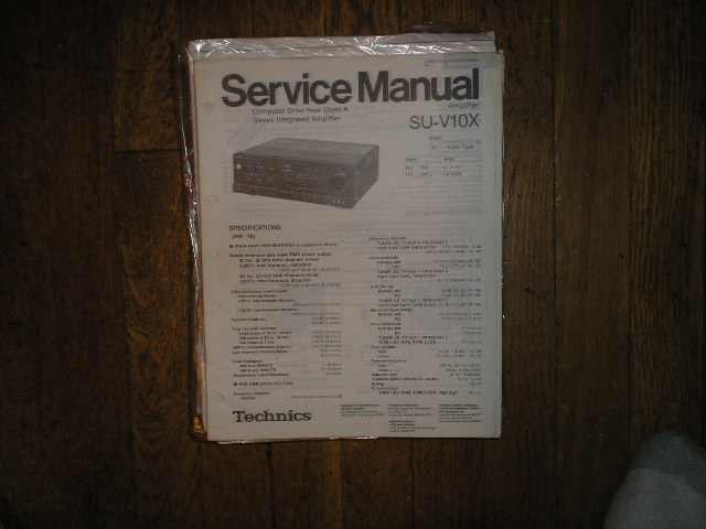 SU-V10X Amplifier Service Manual