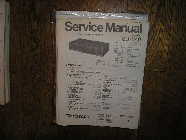 SU-V40 Amplifier Service Manual