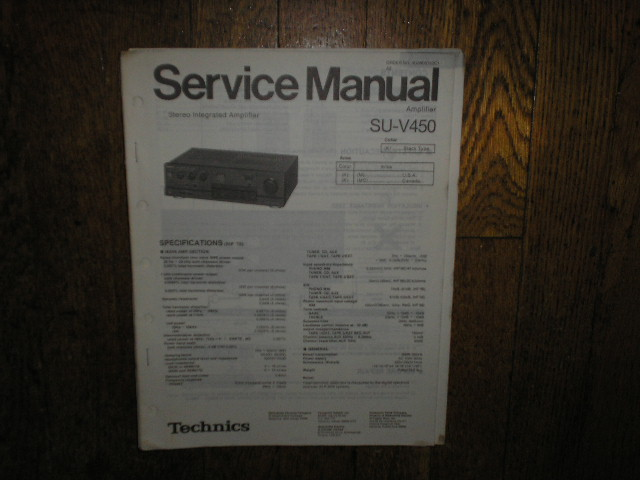 SU-V450 Amplifier Service Manual
