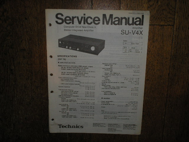 SU-V4X Amplifier Service Manual. Black Version