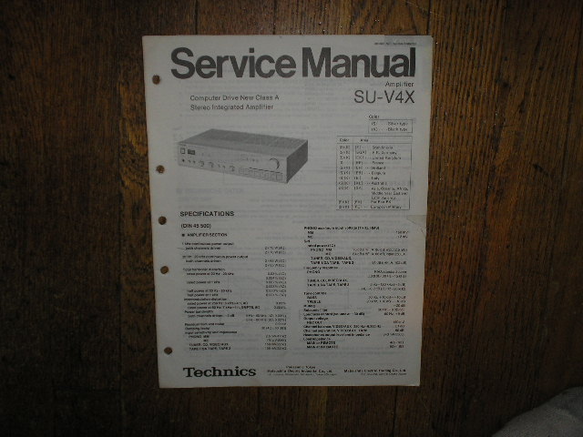SU-V4X Amplifier Service Manual.  Silver Version