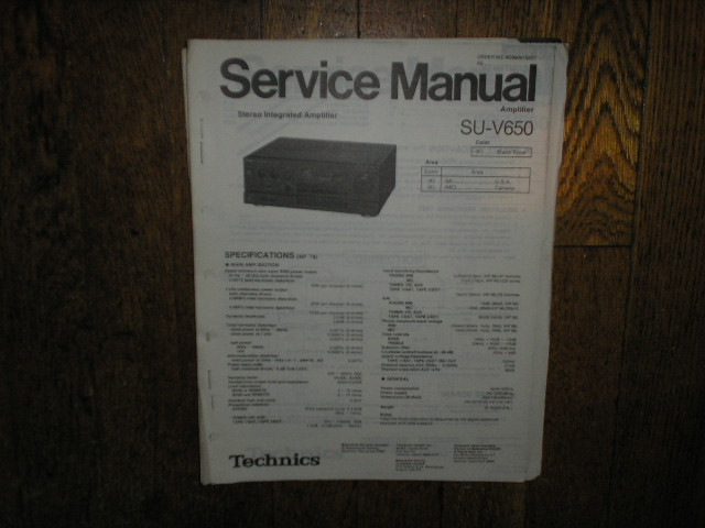 SU-V650 Amplifier Service Manual