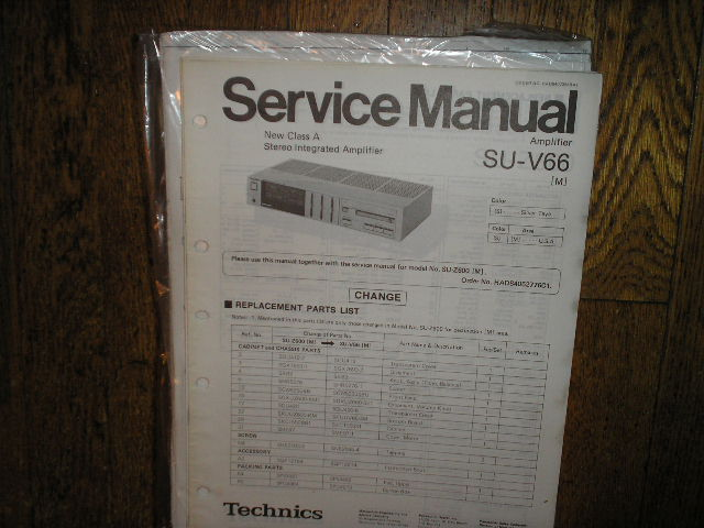 SU-V66 Amplifier Service Manual