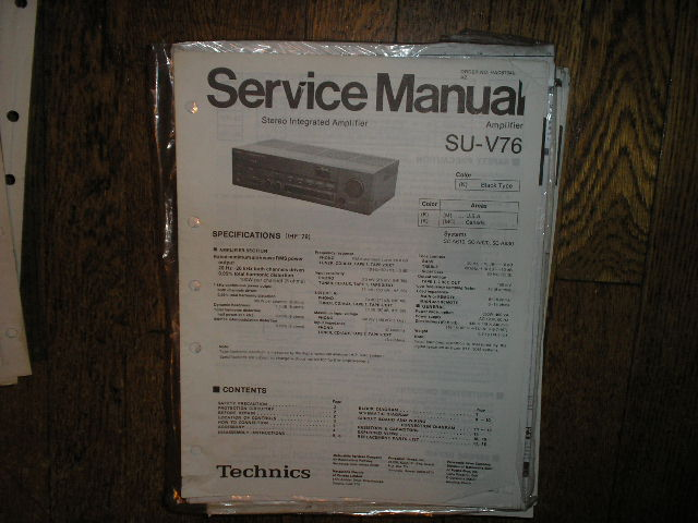 SU-V76 Amplifier Service Manual