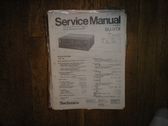 SU-V7X Amplifier Service Manual