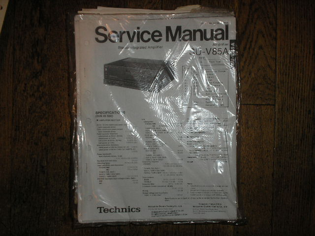 SU-V85A Amplifier Service Manual
