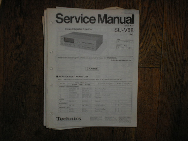 SU-V88 Amplifier Service Manual