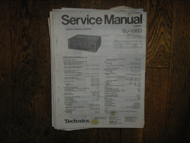 SU-V90D Amplifier Service Manual