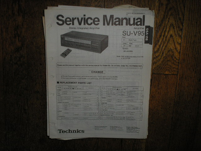SU-V95 Amplifier Service Manual