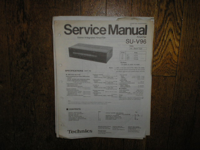 SU-V96 Amplifier Service Manual