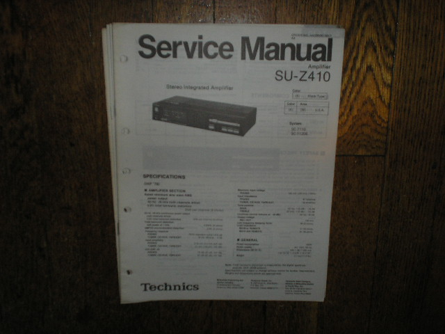 SU-Z410 Amplifier Service Manual