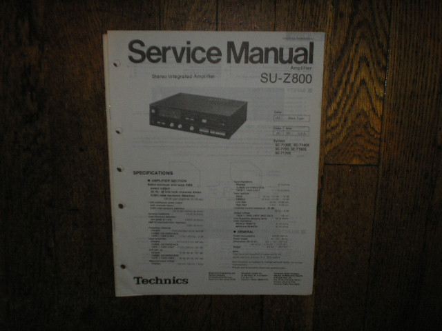 SU-Z800 Amplifier Service Manual