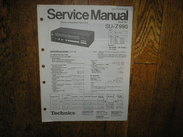 SU-Z990 Amplifier Service Manual