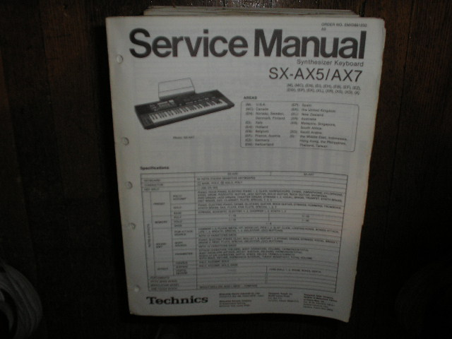 SX-AX5 SX-AX7 Synthesizer Keyboard Service Manual