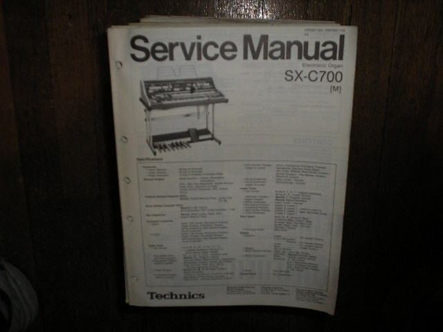 SX-C700 Electric Organ Service Manual