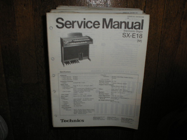 SX-E18 M Electric Organ Service Manual
