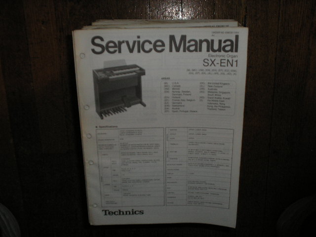 SX-EN1 Electric Organ Service Manual