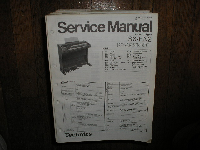 SX-EN2 Electric Organ Service Manual