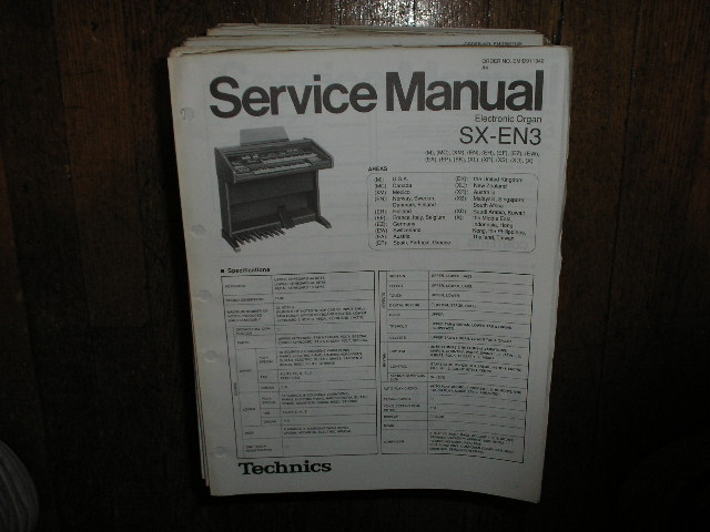 SX-EN3 Electric Organ Service Manual
