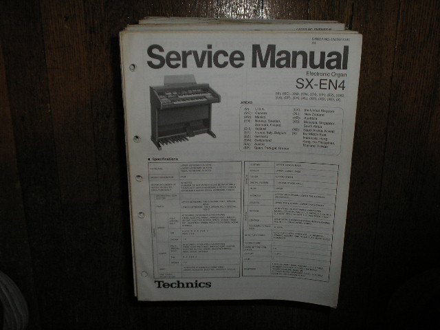 SX-EN4 Electric Organ Service Manual