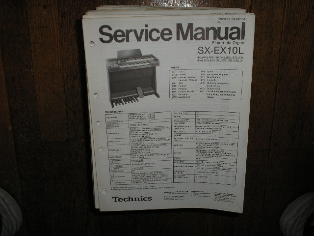 SX-EX10L Electric Organ Service Manual
