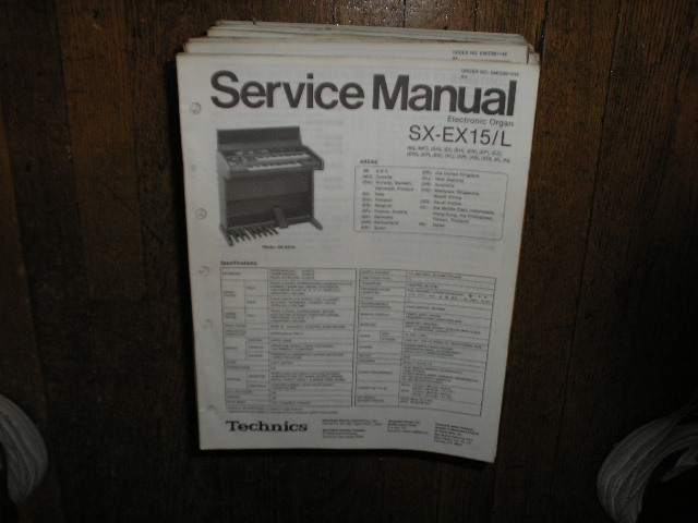 SX-EX15L Electric Organ Service Manual
