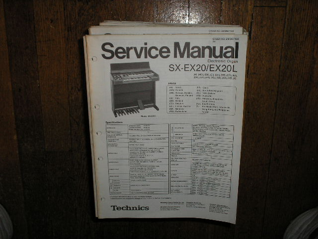 SX-EX20 SX-EX20L Electric Organ Service Manual