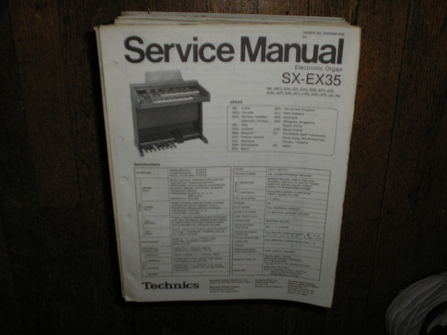SX-EX35 Electric Organ Service Manual
