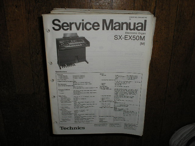 SX-EX50 Electric Organ Service Manual