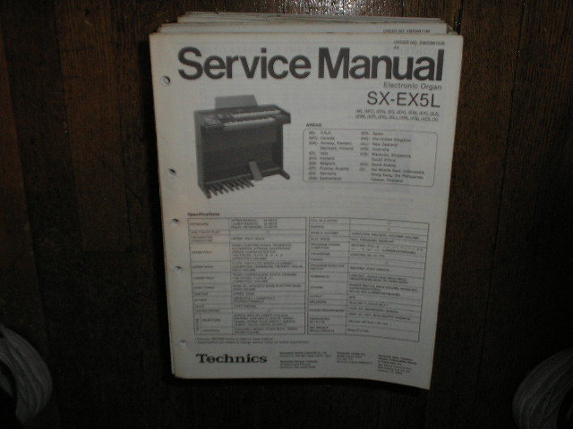 SX-EX5L Electric Organ Service Manual
