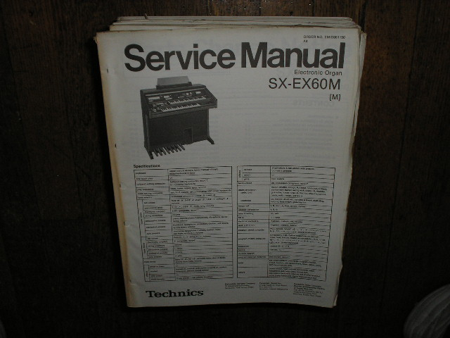 SX-EX60 Electric Organ Service Manual