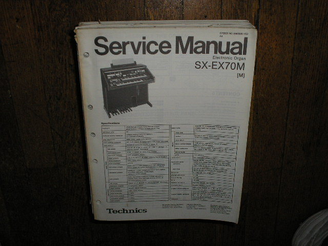 SX-EX70M Electric Organ Service Manual