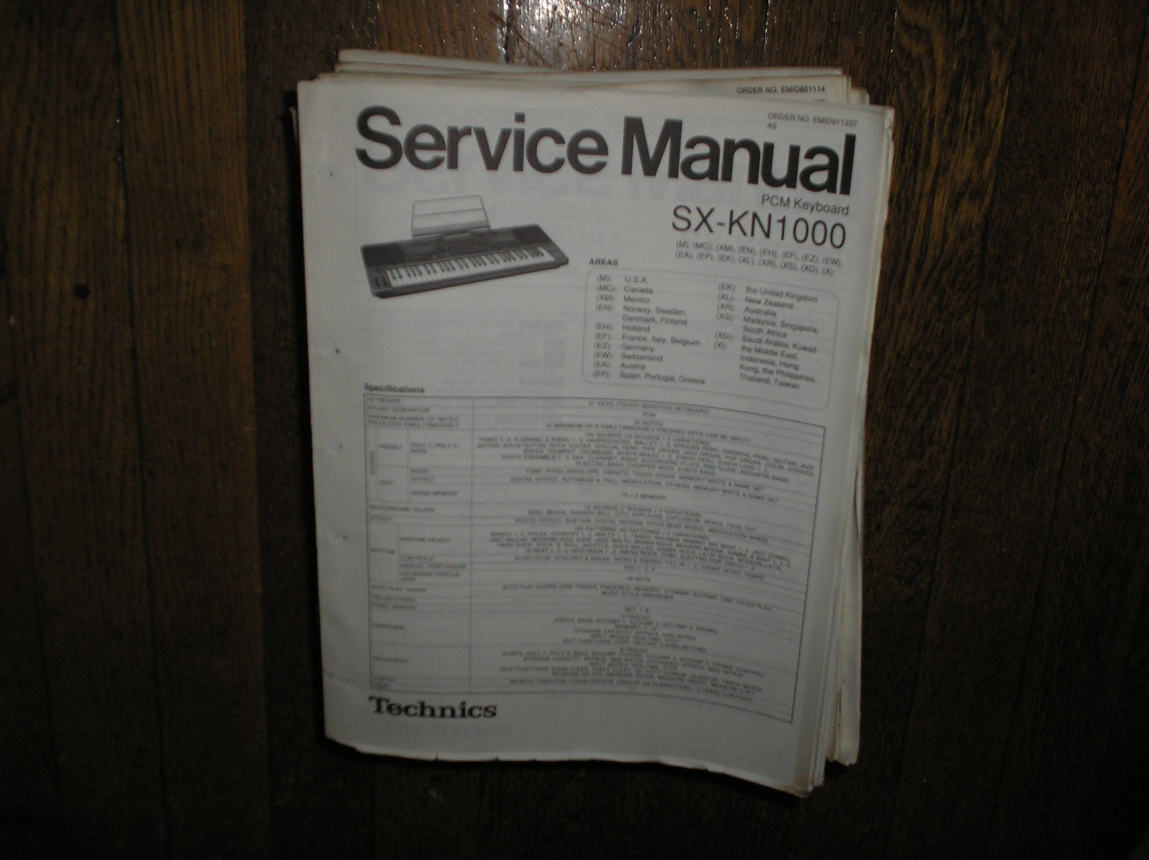 SX-KN1000 PCM Keyboard Service Manual