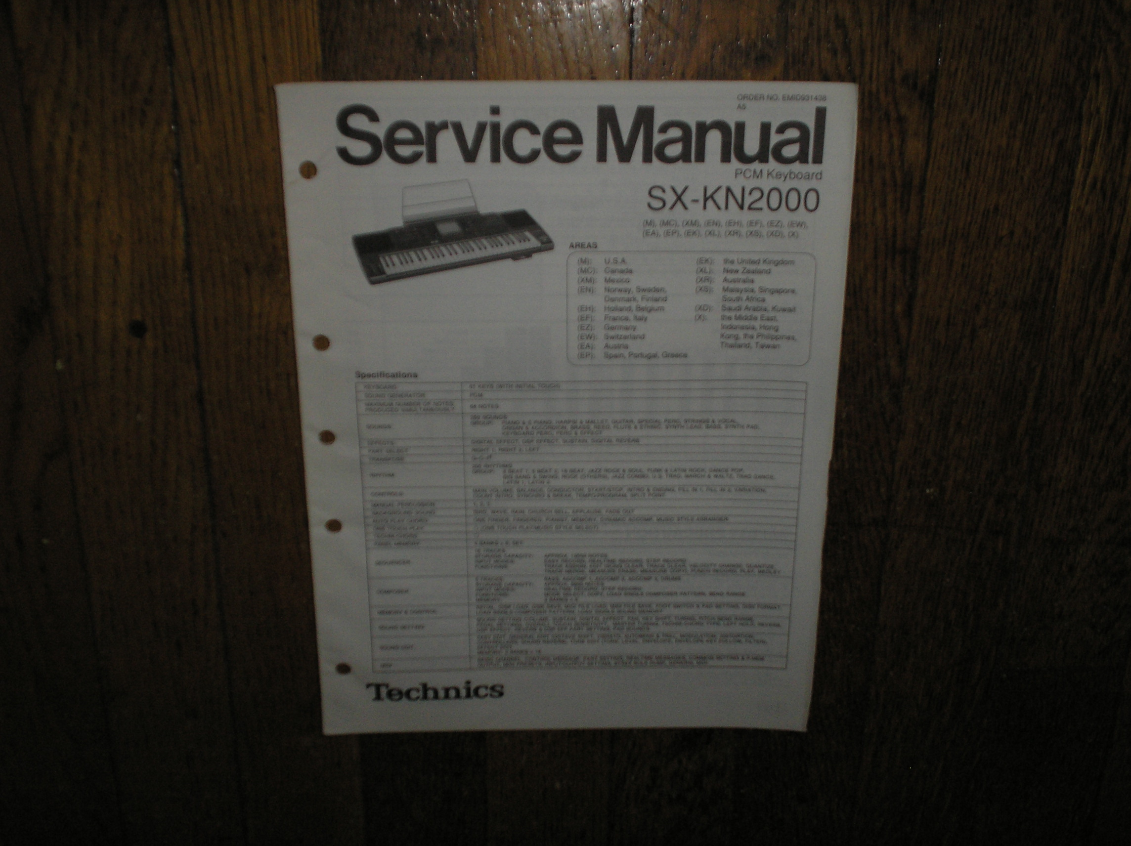 SX-KN2000 PCM Keyboard Service Manual