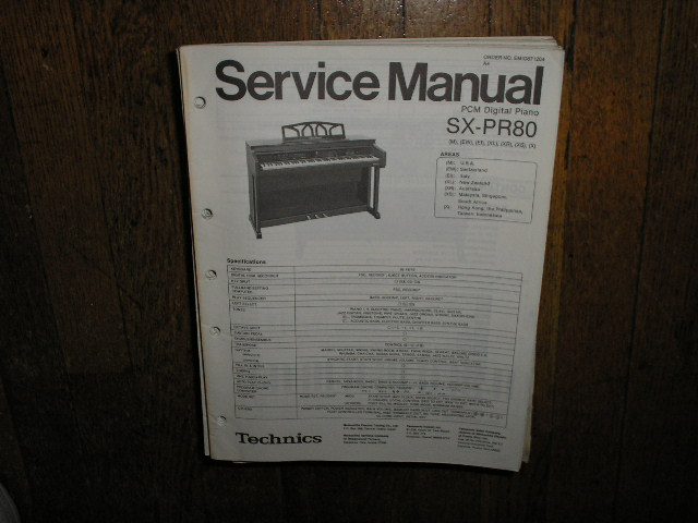 SX-PR80 PCM Digital Piano Service Manual
