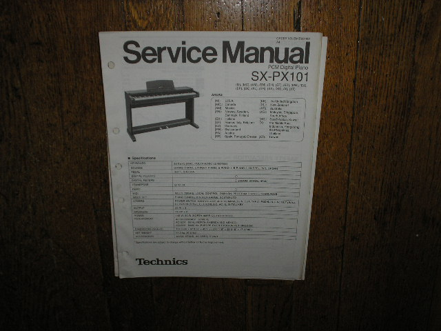 SX-PX101 PCM Digital Piano Service Manual