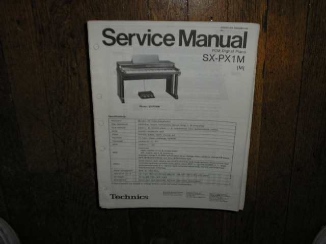 SX-PX1M PCM Digital Piano Service Manual