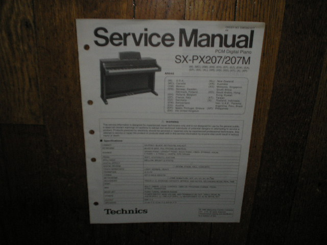 SX-PX207 SX-PX207M PCM Digital Piano Service Manual