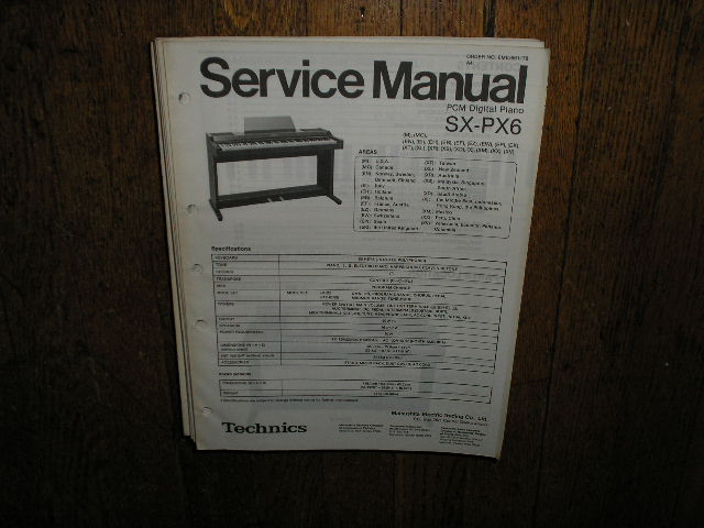 SX-PX6 PCM Digital Piano Service Manual