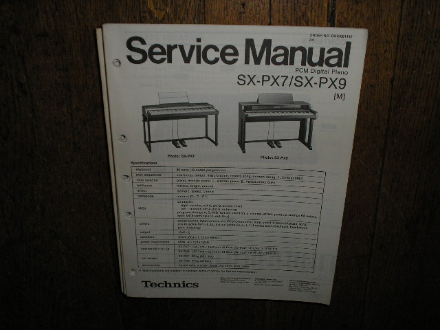 SX-PX7 SX-PX9 M  PCM Digital Piano Service Manual