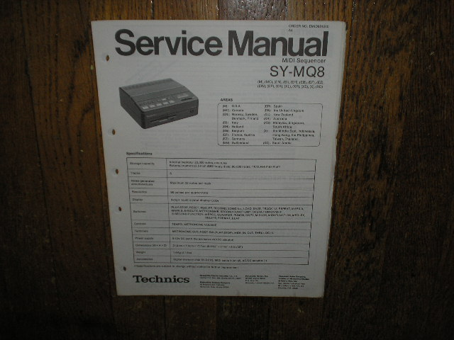 SY-MQ8 MIDI Sequencer Unit Service Manual.. May need the SY-D2 Manual for complete manual. I do not have the SY-D2 manual.